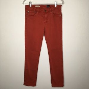 AG The Stevie Ankle Rusty Red Slim Jeans Size 29R